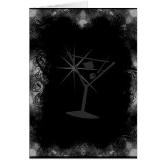 グランジなマルティーニカードテンプレート1 -黒及び白 カード