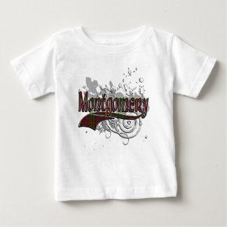 グランジなモントゴメリーのタータンチェック ベビーTシャツ