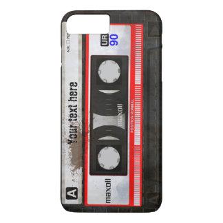 グランジなレトロの密集したオーディオ・カセットテープ| DJ iPhone 8 PLUS/7 PLUSケース