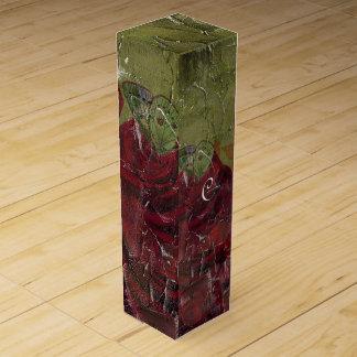 グランジなヴィンテージのバラ油 ワインギフトボックス