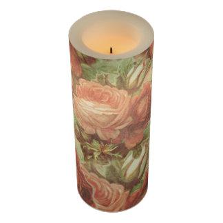 グランジなヴィンテージのバラ LEDキャンドル