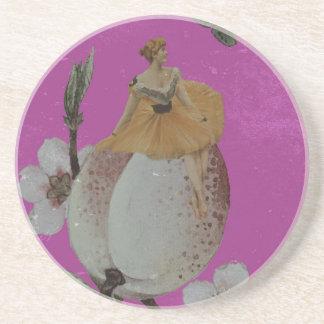 グランジなヴィンテージの女性の花 コースター