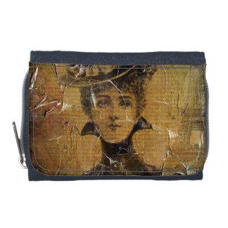 グランジなヴィンテージの女性パリ ウォレット
