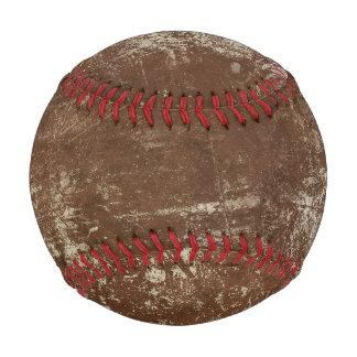 グランジなヴィンテージの青の背景が付いている野球のプリント ベースボール