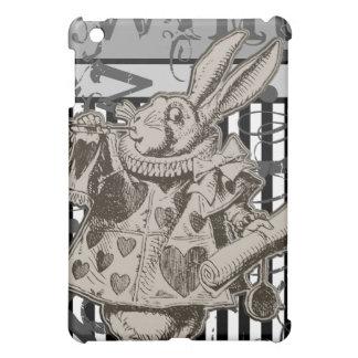 グランジな不思議の国の白いウサギのアリス iPad MINI CASE