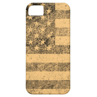 グランジな古い米国旗 iPhone SE/5/5s ケース