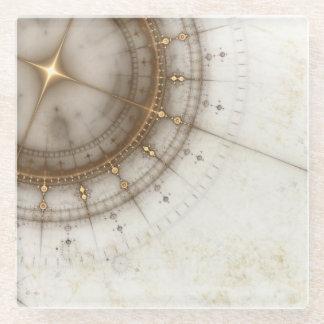 グランジな古代航海のな図表 ガラスコースター