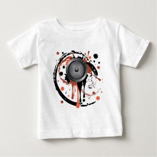 グランジな可聴周波スピーカー ベビーTシャツ