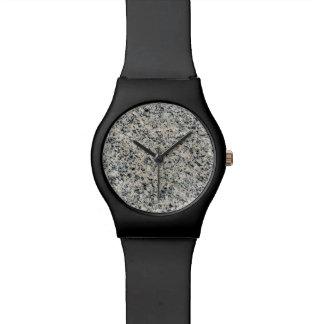 グランジな大理石の背景の石の質の石 腕時計