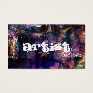 グランジな抽象画家の名刺-質 名刺