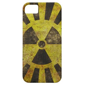 グランジな放射性記号のiPhone 5/5Sの場合 iPhone SE/5/5s ケース
