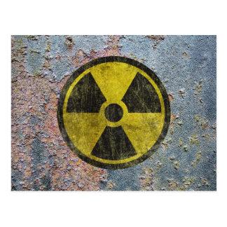 グランジな放射性記号 ポストカード