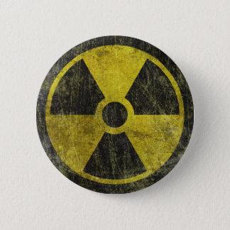 グランジな放射性記号 5.7CM 丸型バッジ