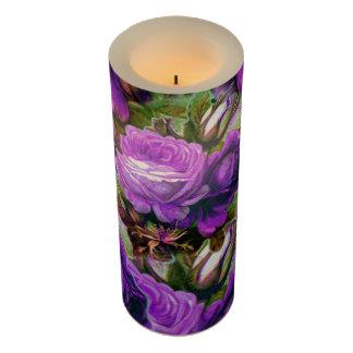 グランジな明るい紫色のヴィンテージのバラ LEDキャンドル