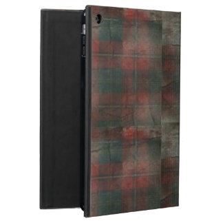 グランジな格子縞のiPadの空気箱(kickstandと!) iPad Airケース