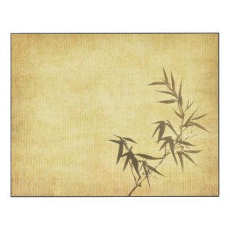 グランジな汚されたタケの紙の背景 ウッドウォールアート