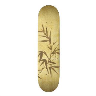 グランジな汚されたタケの紙の背景 スケートボード