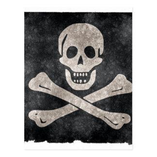 グランジな海賊旗 ポストカード