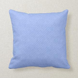 グランジな淡いブルーの細い縦縞 クッション