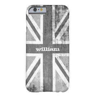 グランジな灰色の英国国旗のイギリスのイギリスの旗 BARELY THERE iPhone 6 ケース