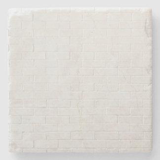 グランジな白いレンガ壁の灰色の煉瓦質 ストーンコースター