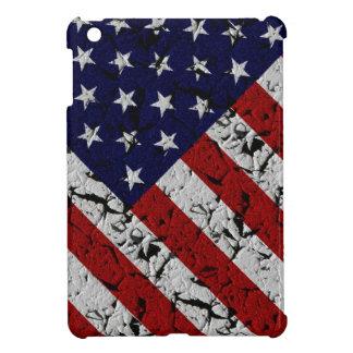 グランジな米国の旗の星条旗 iPad MINI カバー