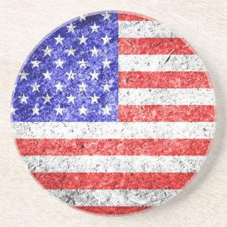 グランジな米国旗 コースター
