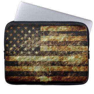 グランジな米国旗 ラップトップスリーブ