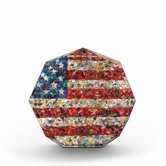 グランジな米国旗 表彰盾