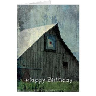 グランジな納屋のキルト誕生日 カード