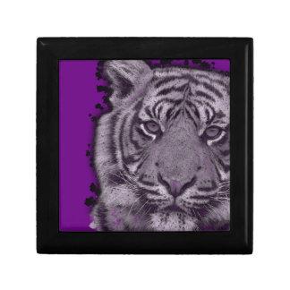 グランジな紫色の抽象芸術のトラ ギフトボックス
