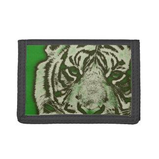 グランジな緑の抽象芸術のトラ