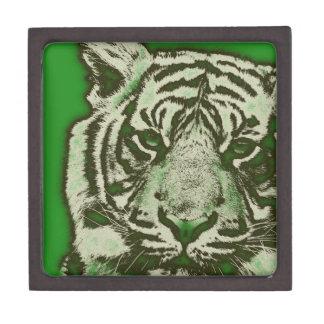 グランジな緑の抽象芸術のトラ ギフトボックス