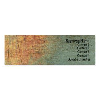 グランジな織り目加工の芸術の細いウェブサイトの名刺 スキニー名刺