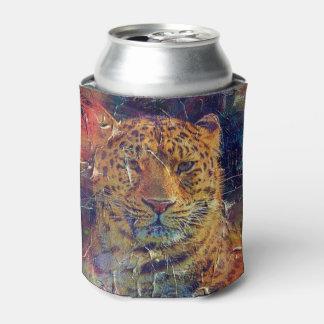 グランジな美しいトラの明るい色 缶クーラー