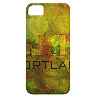 グランジな背景Illustrのポートランド都市スカイライン iPhone SE/5/5s ケース