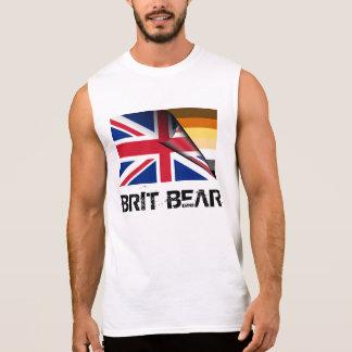 グランジな英国人くまのプライドの英国国旗 袖なしシャツ