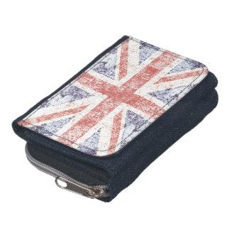 グランジな英国国旗のイギリスの旗-ライト ウォレット