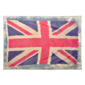 グランジな英国国旗の旗 ランチョンマット