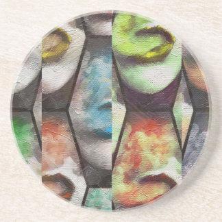 グランジな虹の唇Vape コースター