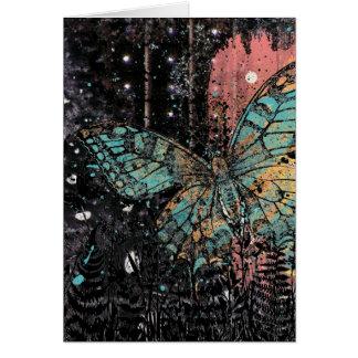 グランジな蝶誕生日 カード