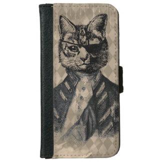 グランジな道化師猫 iPhone 6/6S ウォレットケース