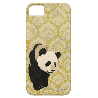 グランジな金ゴールドのダマスク織のパンダのiPhoneの場合 iPhone SE/5/5s ケース
