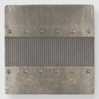 グランジな金属の背景 ストーンコースター