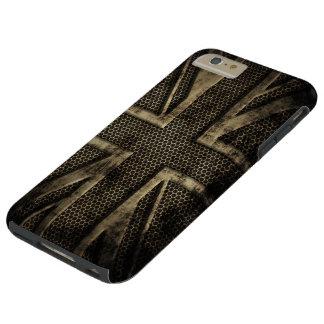 グランジな金属の英国国旗 TOUGH iPhone 6 PLUS ケース