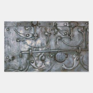 グランジな鉄の重金属 長方形シール