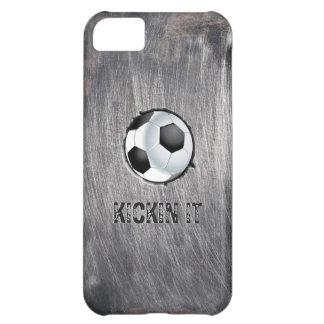グランジな鋼鉄サッカーボールKickinそれiPhone 5cケース iPhone5Cケース