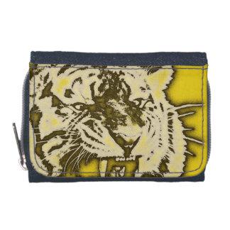 グランジな黄色の抽象的なうなるトラ