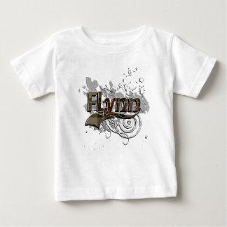 グランジなFlynnのタータンチェック ベビーTシャツ