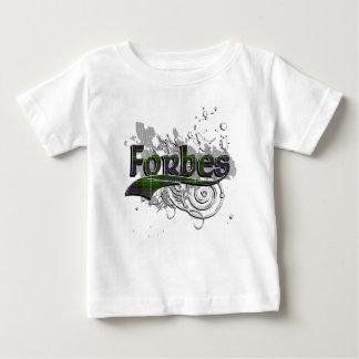 グランジなForbesのタータンチェック ベビーTシャツ